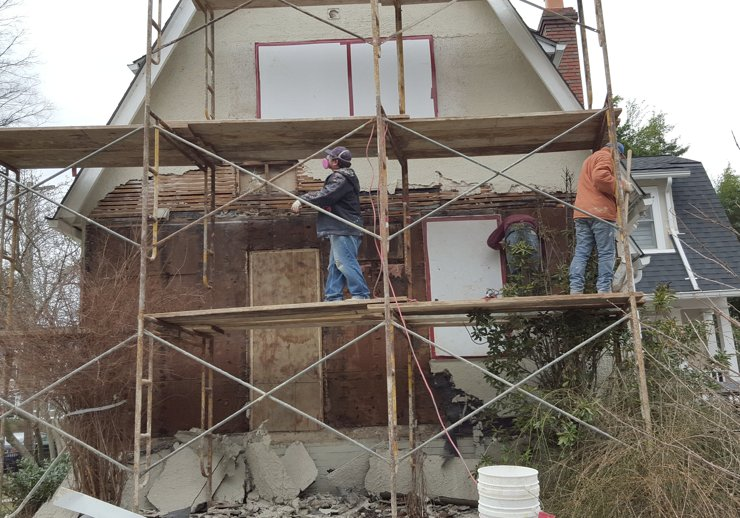 Plaster And Stucco Jobs In Progress March 2016 Virginia