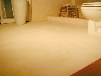 My first stucco shower and first stucco floor