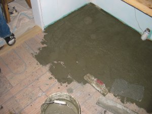 Stucco Shower And Stucco Floor
