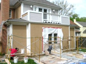Plaster And Stucco Jobs In Progress May 6 2003 Virginia